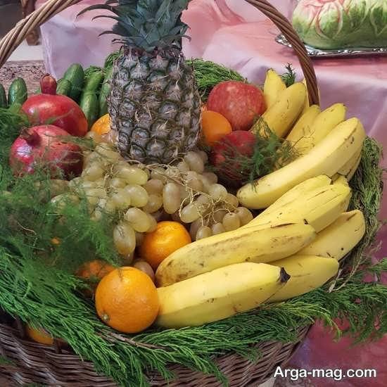 تزئین سبد میوه برای یلدا