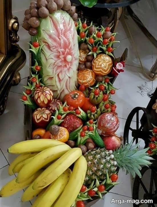 دیزاین هنرمندانه میوه برای یلدا