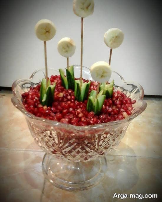 تزئینات هنرمندانه انار برای شب یلدا