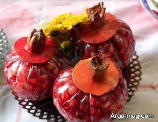 مجموعه فوق العاده زیبا از تزیین انار برای شب یلدا