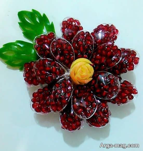 زیباترین تزئین انار برای شب یلدا