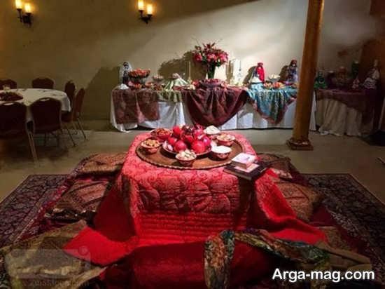 تزیین کرسی شب یلدا با انواع ایده های جالب برای بخشیدن فضای سنتی به خانه های امروزی