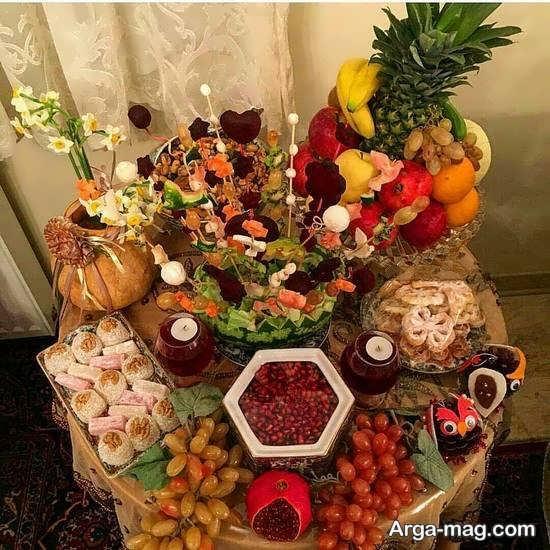 میوه آرایی میز شب یلدا