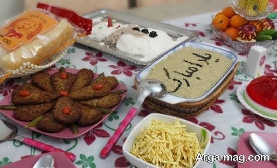 تزئین متفاوت میز شب یلدا