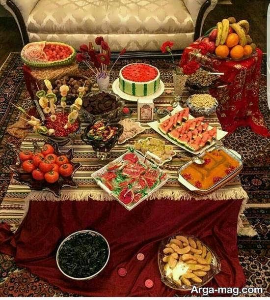 شیک ترین تزیینات میز شب یلدا