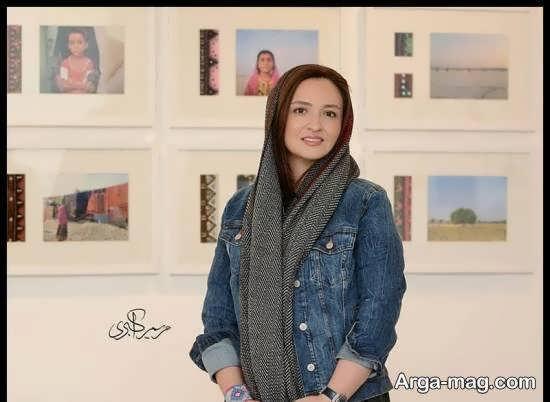 گلاره عباسی در مراسم افتتاحیه ی نمایشگاه عکس کودکان روستای سیدبار