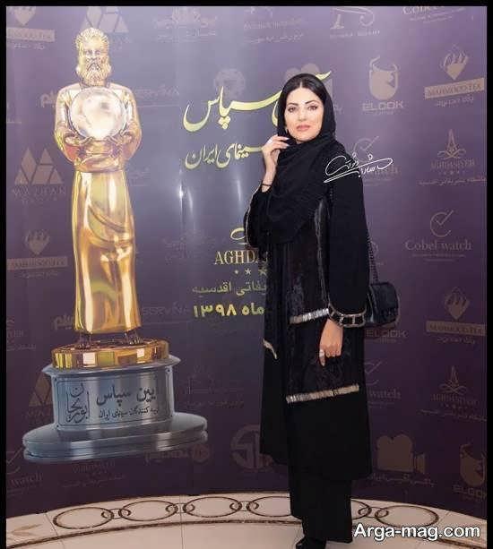هلیا امامی در مراسم سپاس از تهیه کنندگان سینما