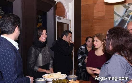 سارا بهرامی در مهمانی شام جشنواره فیلم های پارسی در استرالیا
