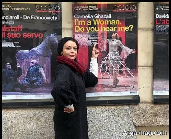 شبنم فرشادجو در میلان ایتالیا برای بازی در نمایش من یه زنم، صدامو میشنوی