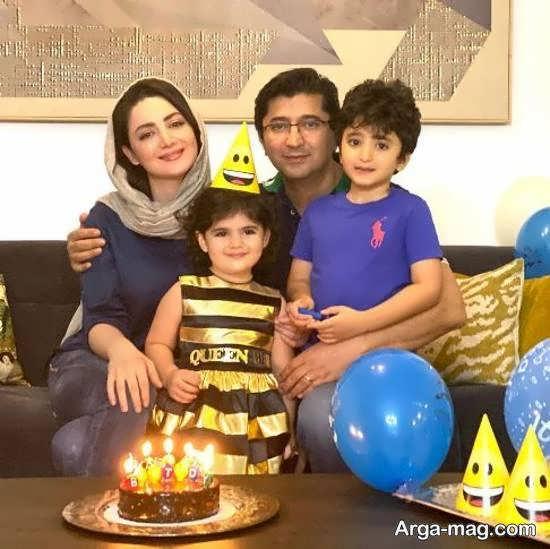 جشن تولد 39 سالگی شیلا خداداد بازیگر ایرانی در کنار خانواده چهارنفره اش