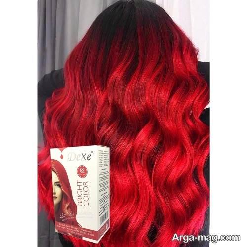 رنگ موی قرمز تیره