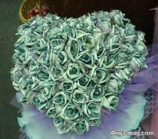تزیینات شکیل دسته گل برای عروس