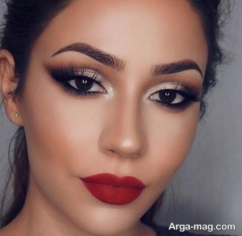 آرایش زیبا برای صورت عروس