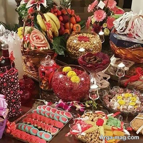 مدل های بی نظیر تزیین شب یلدا برای عروس