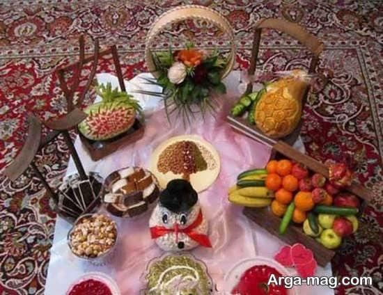 تزیینات شب یلدای عروس با ایده های نو