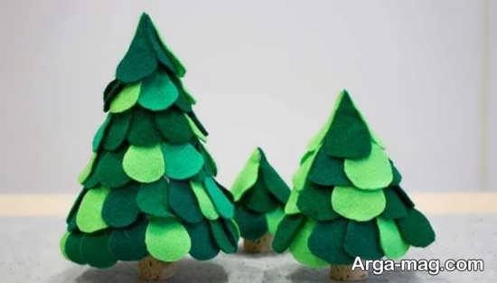 درخت کریسمس ساخته شده از نمد+عکس