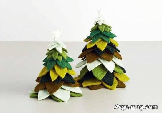 ساخت نمدی درخت کریسمس