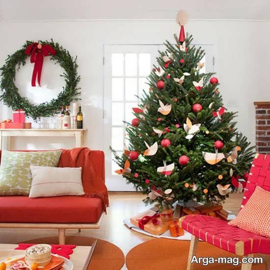درخت کریسمس با طرح زیبا و شکیل