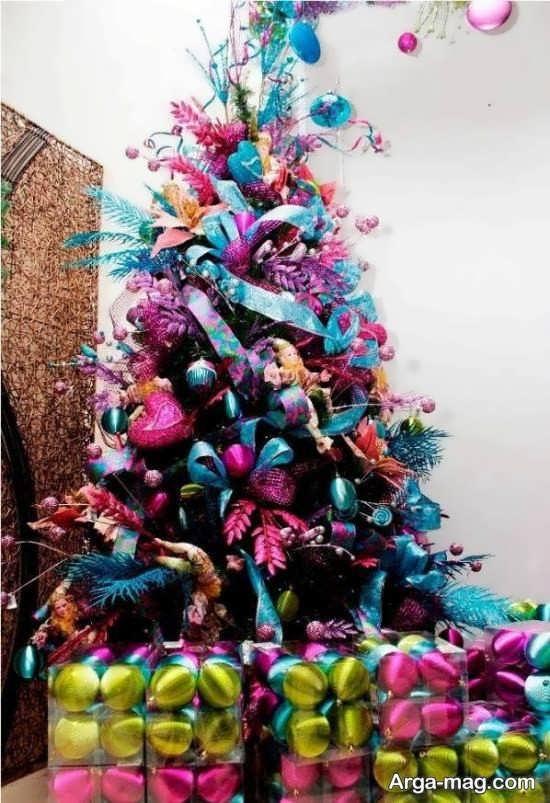 تزیینات درخت کریسمس باایده خلاقانه