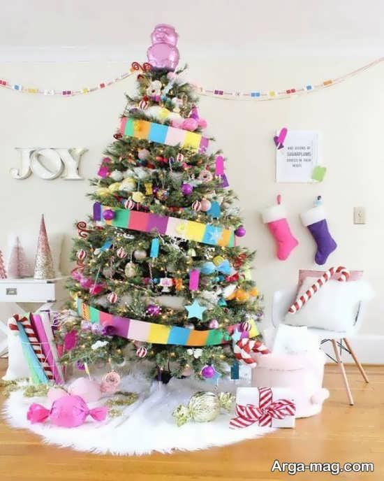 تزیینات درخت کریسمس با ایده جالب