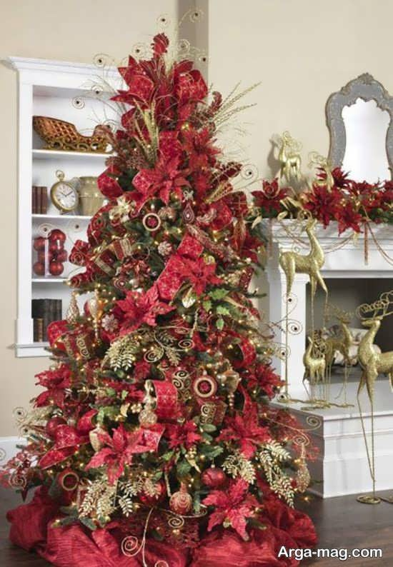 درخت کریسمس دیزاین شده به شکل زیبا