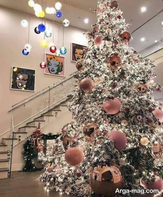 دیزاین هنرمندانه درخت کریسمس