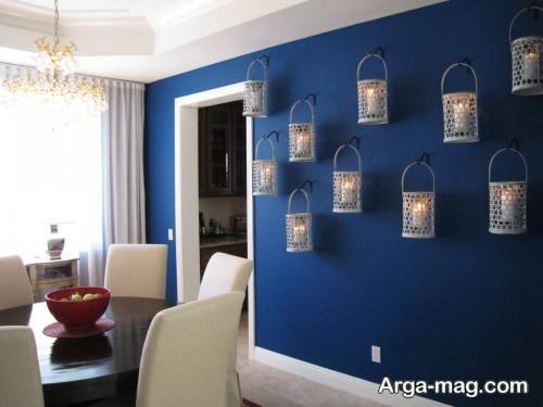 دکوراسیون داخلی منزل با رنگ آبی کلاسیک