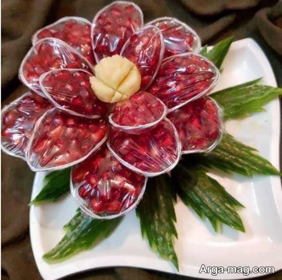 تزئین انار دون شده