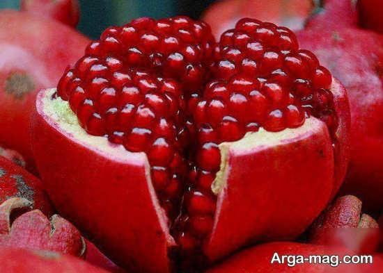 دانه های انار تزیین شده+عکس