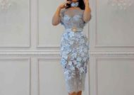 لباس مجلسی آبی آسمانی