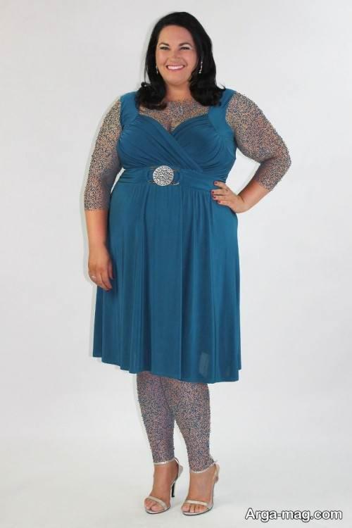 مدل لباس مجلسی برای خانم های چاق