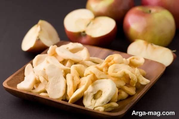 روش خشک کردن سیب