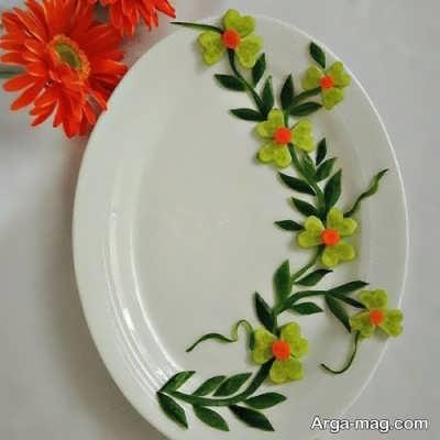 عکس زیبایی از تزیین ظرف غذا