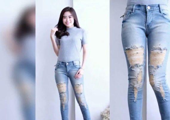 مدل شلوار جین دخترانه