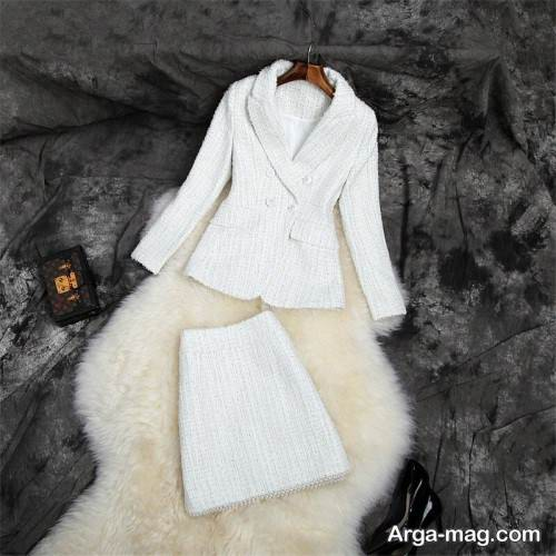 کت دامن رنگ روشن