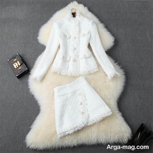 کت و دامن سفید