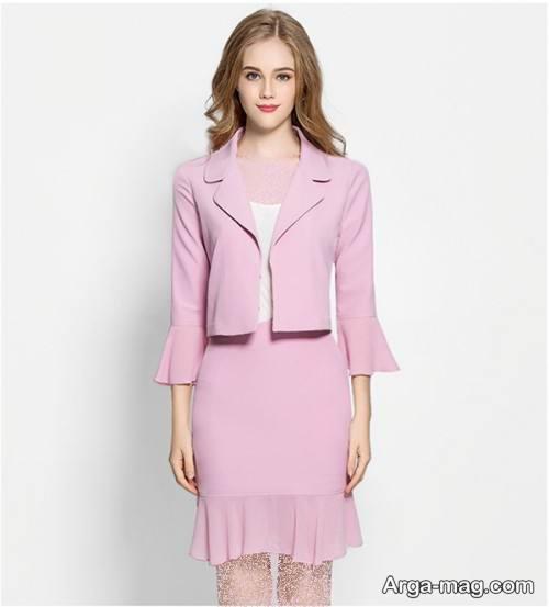 کت و دامن رنگ روشن