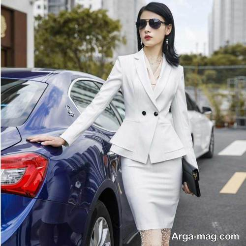 کت دامن سفید دخترانه