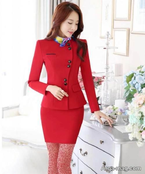 کت دامن قرمز دخترانه