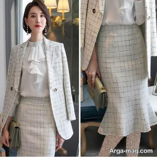 کت دامن بلند دخترانه