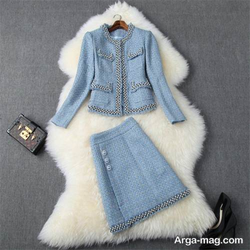 کت دامن زیبا و سفید دخترانه