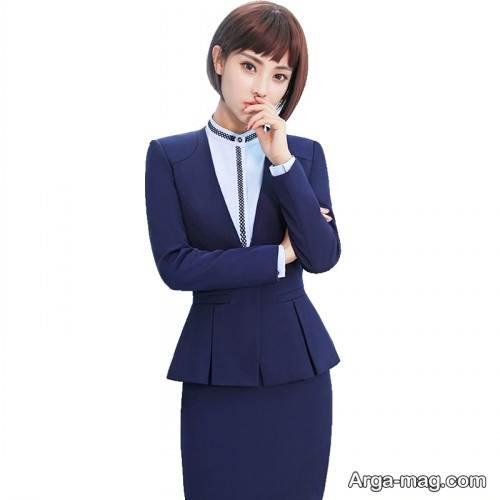 کت دامن سرمه ای دخترانه