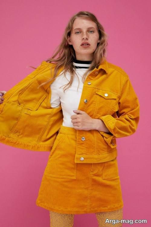 کت دامن زرد دخترانه
