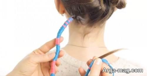 بافت موی زیبا با کاموا