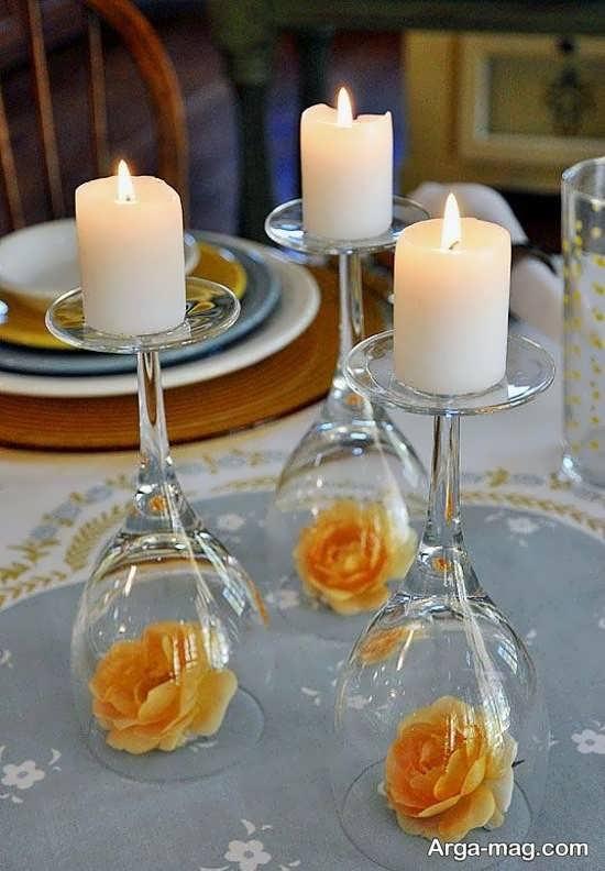 دیزاین شکیل و زیبای خانه با شمع