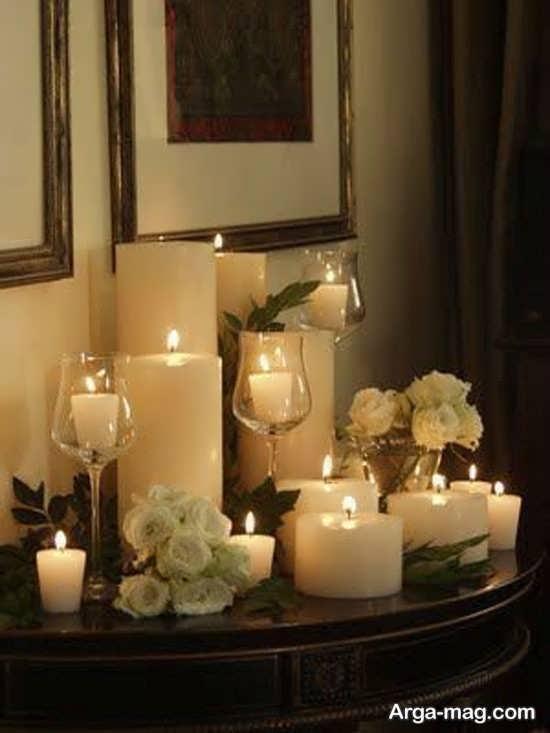 تزیینات شیک منزل با شمع