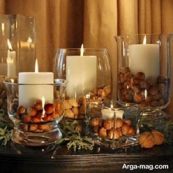 دیزاین جذاب خانه با شمع