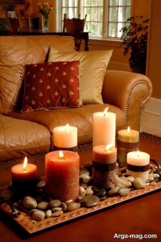 شمع آرایی رمانتیک خانه