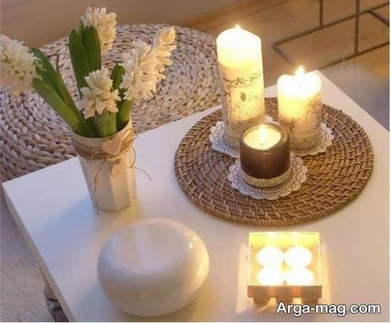 دیزاین خانه با شمع