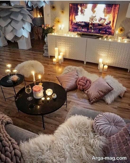 تزیین شیک منزل با شمع